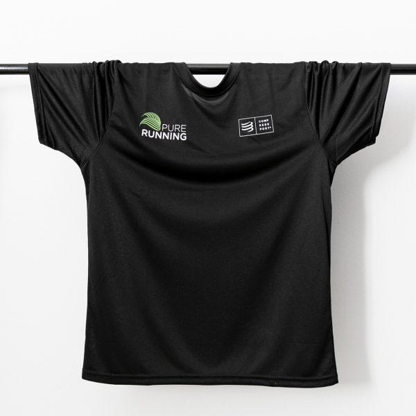 Pure Running x Compressport Performance Tees (2 Colours) | PR Black