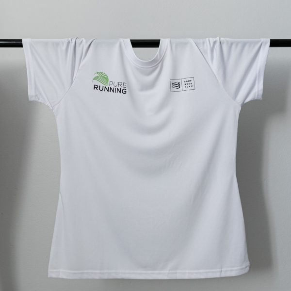 Pure Running x Compressport Performance Tees (2 Colours) | PR White