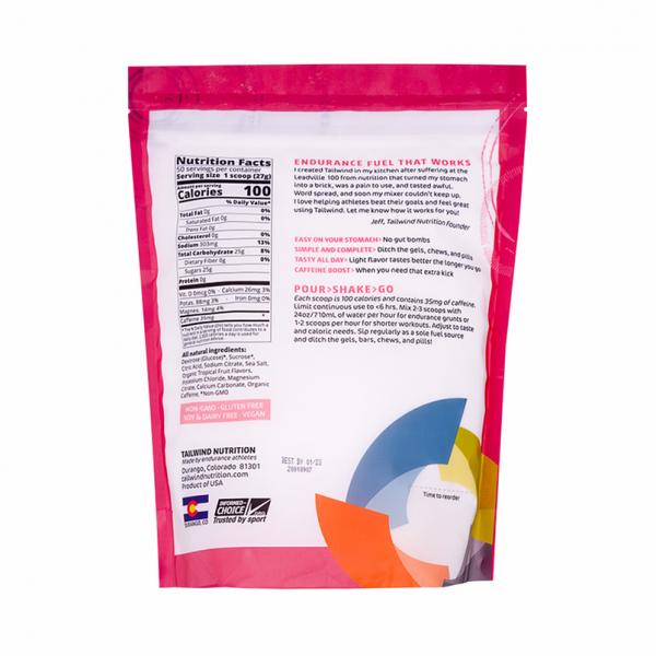Tailwind Nutrition Endurance Fuel Drink - 50 Servings (8 Flavours) | Tropical Large Back