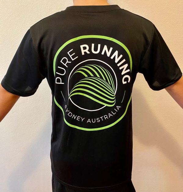 Pure Running x Compressport 2021 Performance Tees (Mens, Womens and Kids)   Kids Back