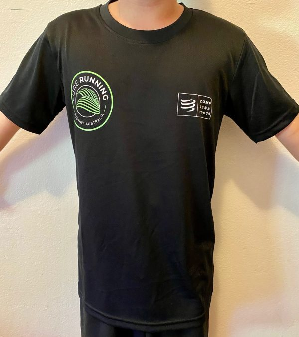 Pure Running x Compressport 2021 Performance Tees (Mens, Womens and Kids)   Kids Front