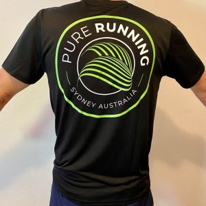 Pure Running x Compressport 2021 Performance Tees (Mens, Womens and Kids) | Mens Back