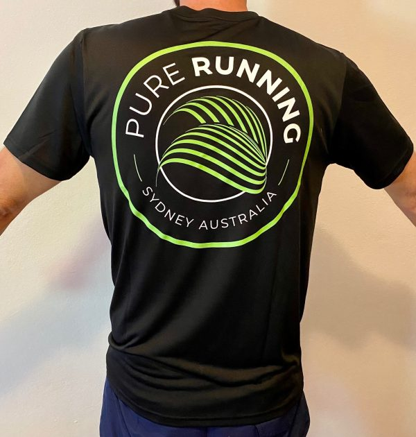 Pure Running x Compressport 2021 Performance Tees (Mens, Womens and Kids)   Mens Back