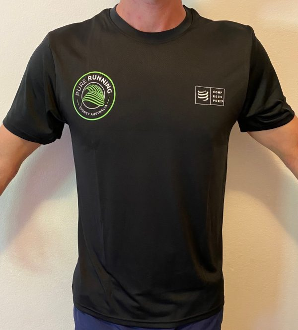 Pure Running x Compressport 2021 Performance Tees (Mens, Womens and Kids)   Mens Front