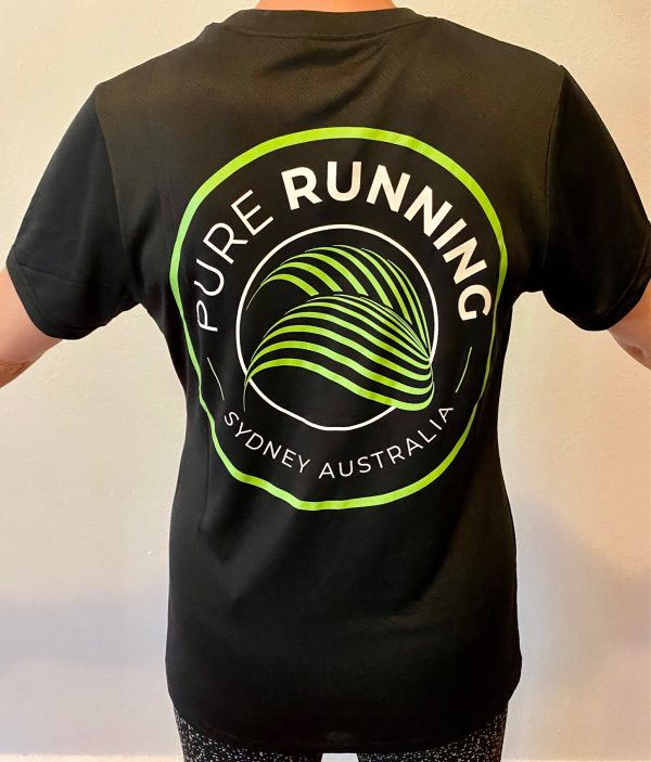 Pure Running x Compressport 2021 Performance Tees (Mens, Womens and Kids)   Womens Back