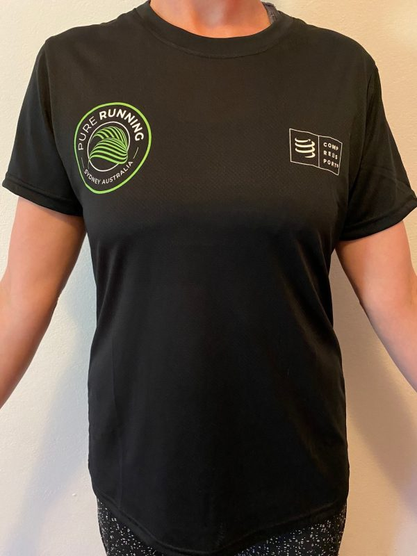 Pure Running x Compressport 2021 Performance Tees (Mens, Womens and Kids)   Womens Front
