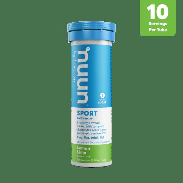 Nuun Sports Electrolyte 10 Tablet Tubes (6 Flavours) | 3D_Tube1_Sport_LemonLime_Tab_r1v1_900x900