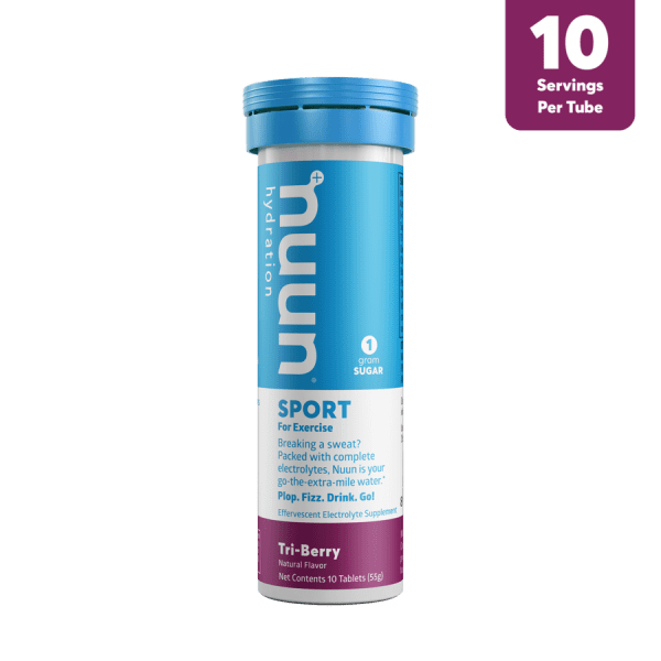 Nuun Sports Electrolyte 10 Tablet Tubes (6 Flavours) | 3D_Tube1_Sport_TriBerry_Tab_r1v1_900x900