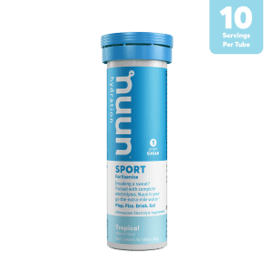 Nuun Sports Electrolyte 10 Tablet Tubes (4 Flavours) | 3D_Tube1_Sport_Tropical_Tab_r1v1_900x900