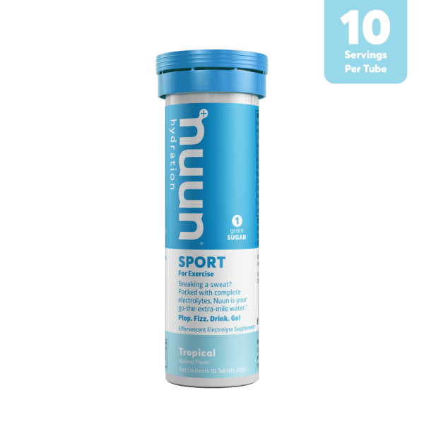 Nuun Sports Electrolyte 10 Tablet Tubes (6 Flavours) | 3D_Tube1_Sport_Tropical_Tab_r1v1_900x900