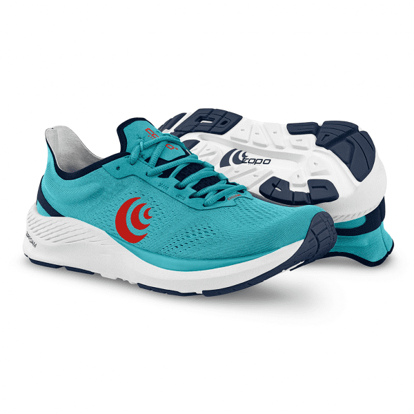 Topo Athletic Cyclone Mens Road Running Shoes   CyanRed3_2048x