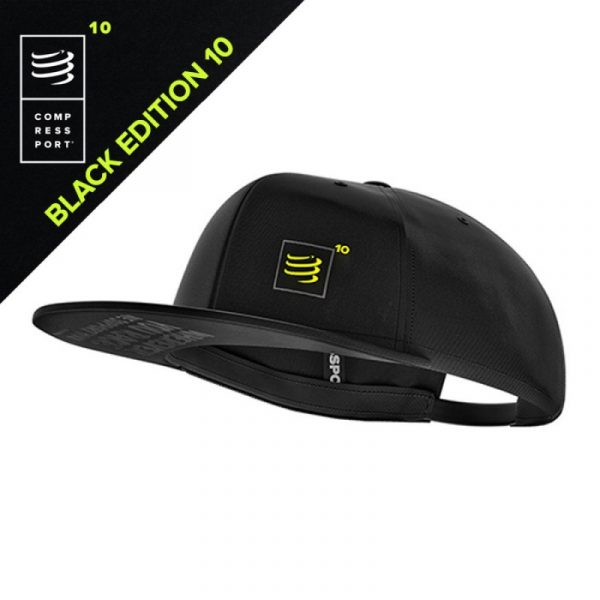 Compressport Black Limited Edition 10 Flat Cap | 5_7_113-800x800