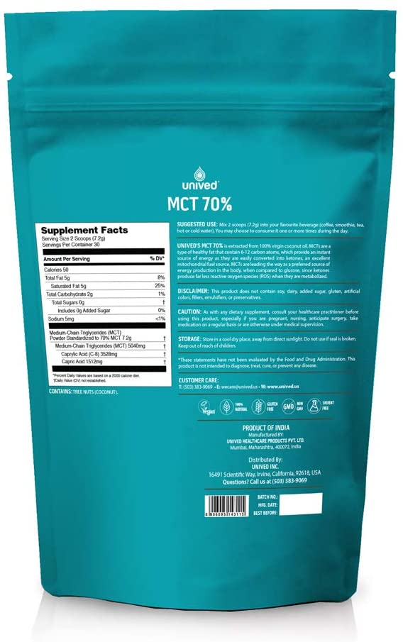 Unived 70% MCT Oil Powder (30 Serve Pouch)   61fDoSljXjL._AC_SL1000_