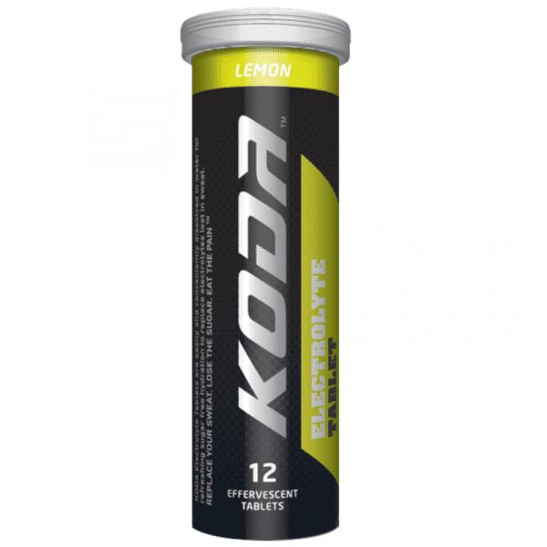 Koda Sports Electrolyte 12 Tablet Tube - Lemon | Lemon_single_tube_800x