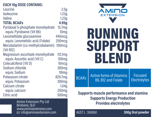 Amino Extension Running Support Electrolyte Blend | hoexxsrQ
