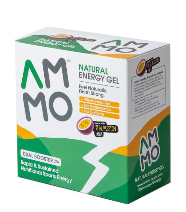 AMMO Natural Energy Gel (3 Flavours)   packshot box pf