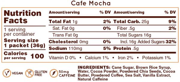 Hüma All Natural Energy Gel Original (6 Flavours) | Cafe_Mocha_NF_cf0022c0-fbeb-4d03-b8fe-c7ed535d0d73