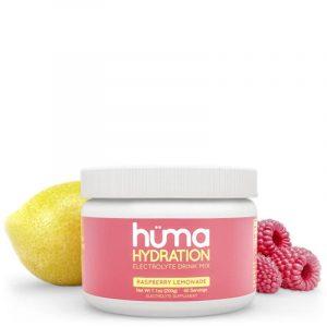 Hüma Natural Electrolyte Hydration Drink Mix (Raspberry Lemonade)   HydrationFruit1medDTC