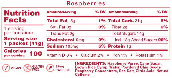 Hüma All Natural Energy Gel Original (6 Flavours) | Raspberries_NF_772fa3c4-0cb7-4f24-bea8-402d43e5ac07