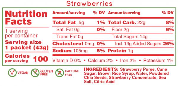 Hüma All Natural Energy Gel Original (6 Flavours) | Strawberries_NF_48bf5443-ba05-4c7a-9fc3-3b960b772c73